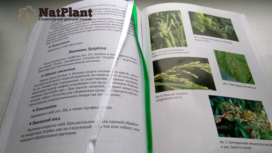 В. Дас Кавирадж. Гомеопатия для фермы и сада. Разворот книги