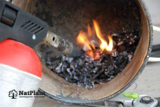 Сжигаем поражённые листья газовой горелкой